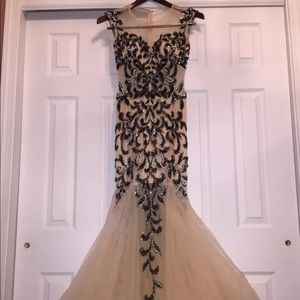 Jovani Prom Gown Black/Nude *Perfect Condition*